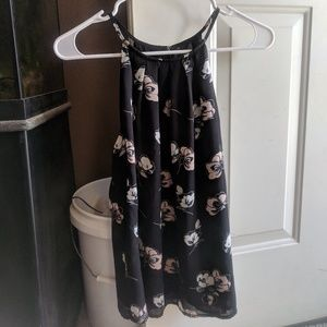 Spaghetti strap top with flowers